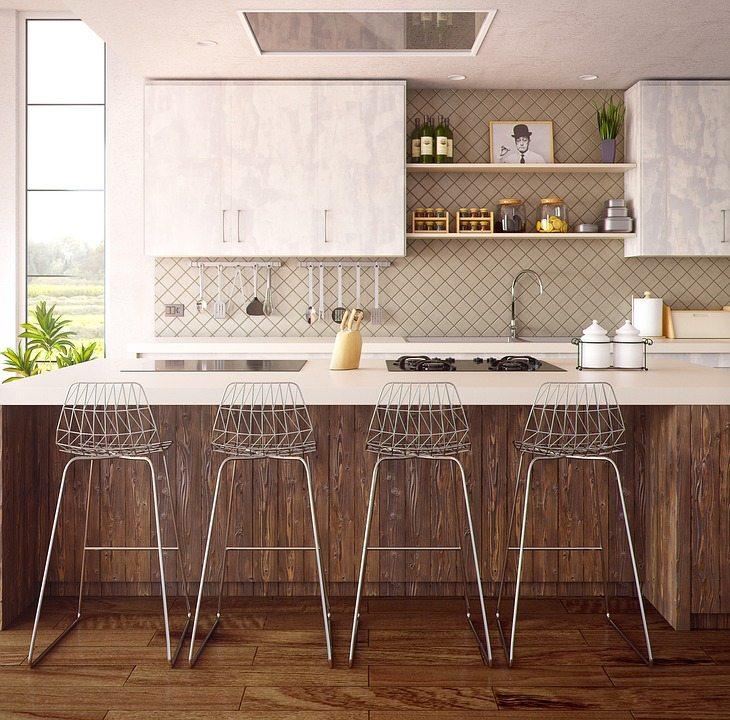 suelos de vinilo cocina moderna